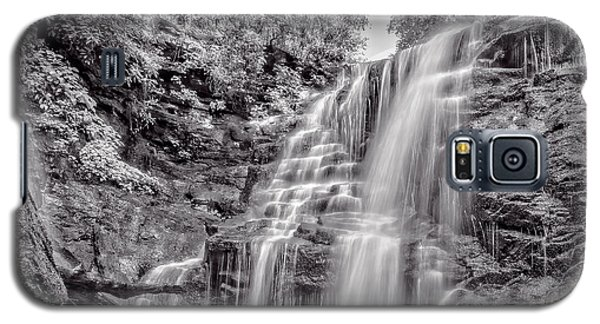 Galaxy S5 Case featuring the photograph Rocky Falls - Bw by Christopher Holmes