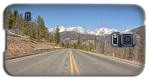 Galaxy S5 Case featuring the photograph Rocky Mountain Road Heading Towards Estes Park, Co by Peter Ciro