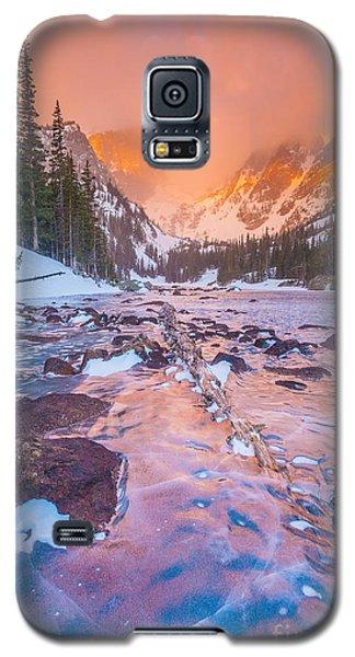 Rocky Mountain Sunrise Galaxy S5 Case by Steven Reed