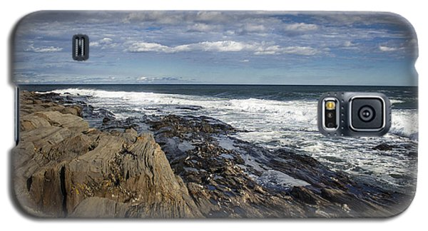 Rocky Shore Line Two Lights Maine  Galaxy S5 Case