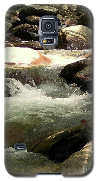 Galaxy S5 Case featuring the mixed media Rocky Stream 4 by Desiree Paquette
