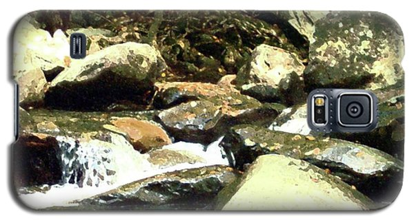 Galaxy S5 Case featuring the mixed media Rocky Stream 5 by Desiree Paquette