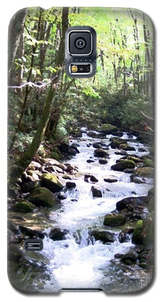 Galaxy S5 Case featuring the mixed media Rocky Stream 6 by Desiree Paquette
