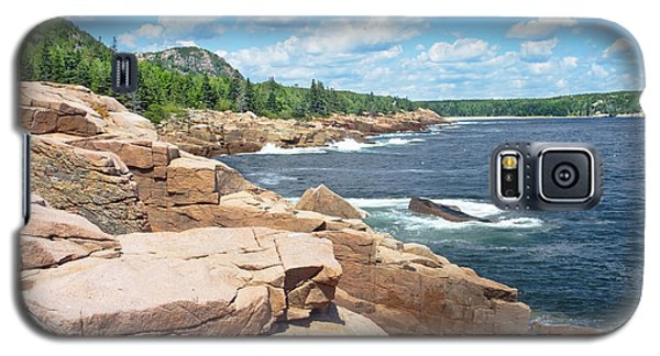 Rocky Summer Seascape Acadia National Park Photograph Galaxy S5 Case by Keith Webber Jr