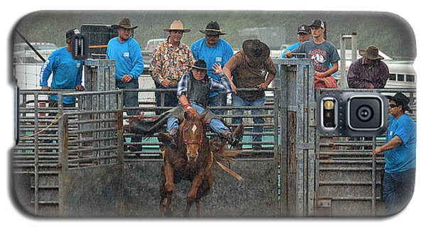 Galaxy S5 Case featuring the photograph Rodeo Bronco by Lori Seaman