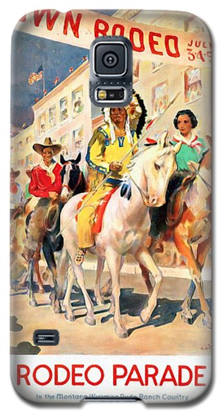 Rodeo Parade - Vintage Poster Restored Galaxy S5 Case