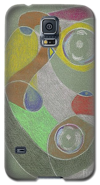 Galaxy S5 Case featuring the drawing Roley Poley Vertical by Rod Ismay
