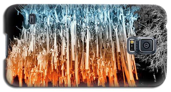 Rolled Tree Orangenblue Galaxy S5 Case