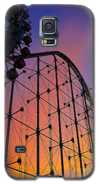 Roller Coaster At Sunset Galaxy S5 Case
