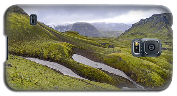 Rolling Lava Flows Entering Iceland's Thorsmork Nature Reserve Galaxy S5 Case