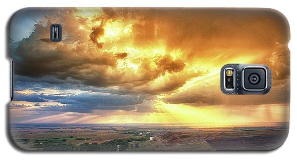 Rolling Rain Of Summer Sunset Galaxy S5 Case