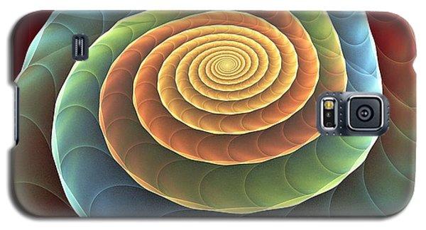 Galaxy S5 Case featuring the digital art Rolling Spiral by Anastasiya Malakhova
