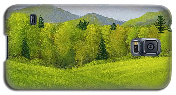 Galaxy S5 Case featuring the painting Rolling Spring Pastures  by Frank Wilson