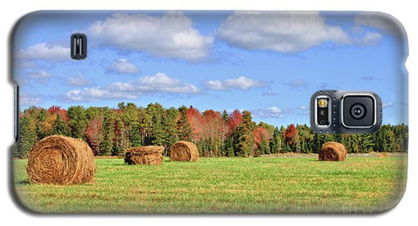 Rolls Of Hay On A Beautiful Day Galaxy S5 Case