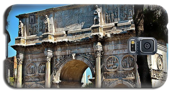 Galaxy S5 Case featuring the photograph Roman Arch by Harry Spitz