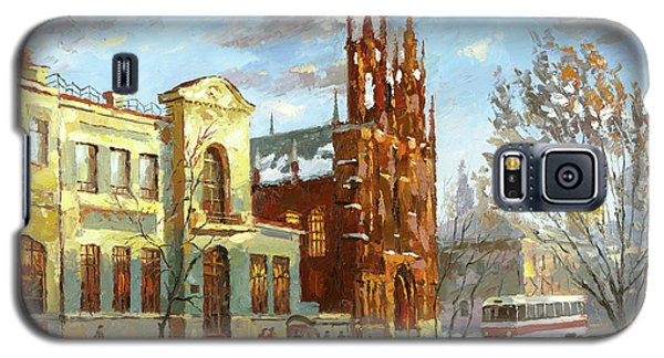 Galaxy S5 Case featuring the painting Roman Catholic Church by Dmitry Spiros