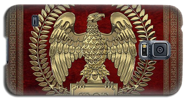 Roman Empire - Gold Imperial Eagle Over Red Velvet Galaxy S5 Case