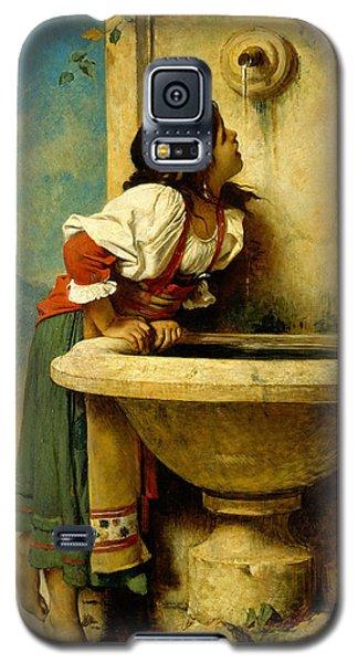 Roman Girl At A Fountain Galaxy S5 Case