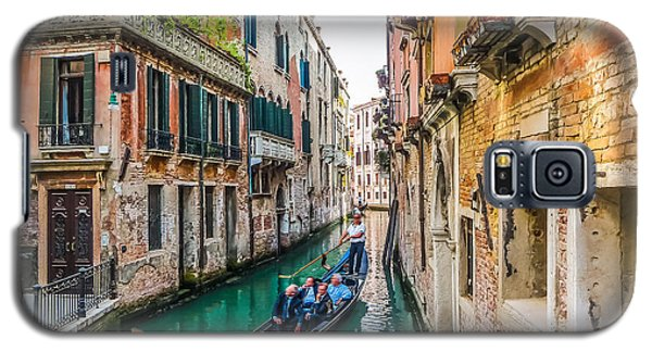 Romantic Gondola Scene On Canal In Venice Galaxy S5 Case