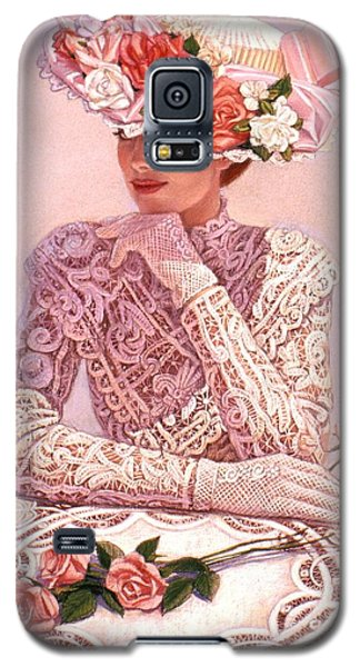 Galaxy S5 Case featuring the painting Romantic Lady by Sue Halstenberg