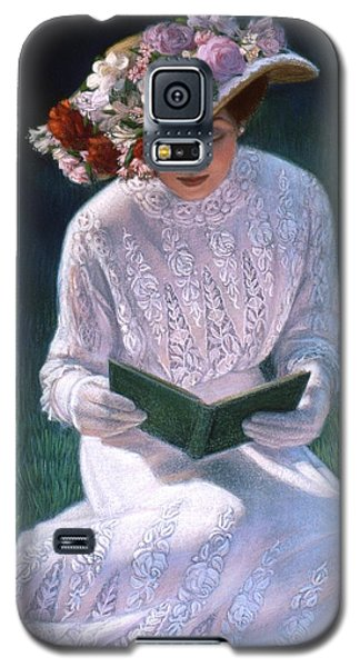 Galaxy S5 Case featuring the painting Romantic Novel by Sue Halstenberg