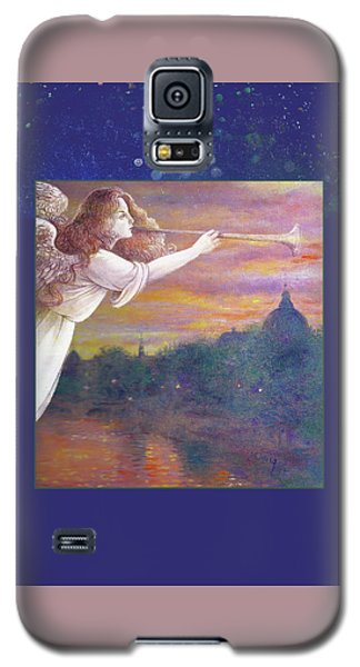 Romantic Paris Nocturne With Angel Galaxy S5 Case