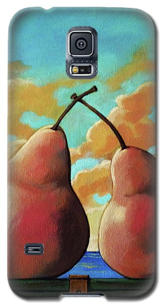 Galaxy S5 Case featuring the painting Romantic Pear by Linda Apple