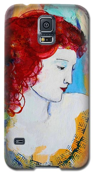 Romantic Read Heaired Woman Galaxy S5 Case