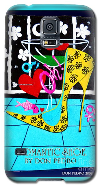 Galaxy S5 Case featuring the painting Romantic Shoe by Don Pedro De Gracia