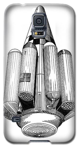 Rombus Heavey Lift Reusable Rocket Galaxy S5 Case by Jack Pumphrey