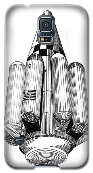 Rombus Heavey Lift Reusable Rocket Galaxy S5 Case by Jack Pumphrey