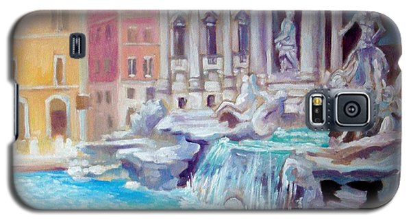 Galaxy S5 Case featuring the painting Rome  Italy by Paul Weerasekera