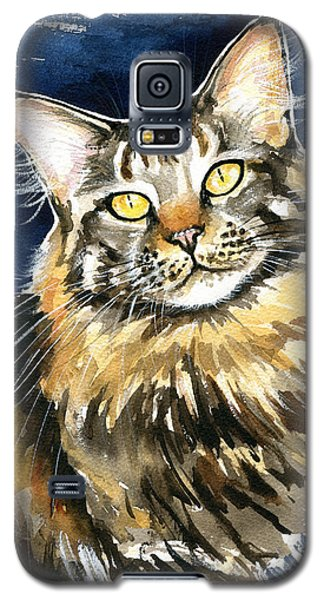 Ronja - Maine Coon Cat Painting Galaxy S5 Case