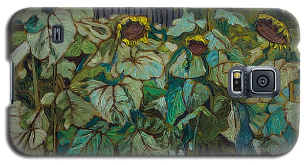 Ronnie's Sunflowers Galaxy S5 Case by Ron Richard Baviello