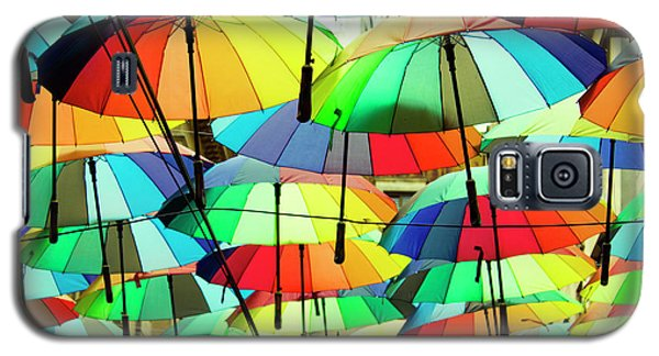 Roof Made From Colorful Umbrellas Galaxy S5 Case