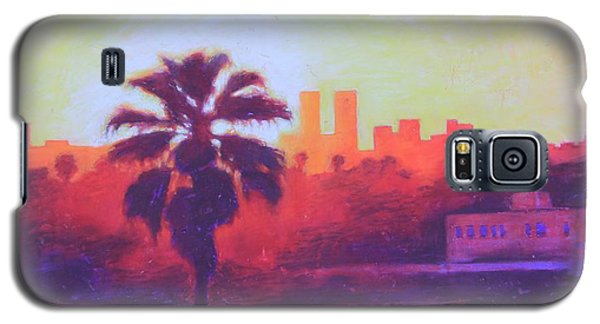 Galaxy S5 Case featuring the painting Rooftop Glow by Andrew Danielsen
