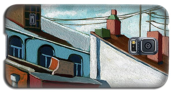Galaxy S5 Case featuring the painting Rooftops by Linda Apple