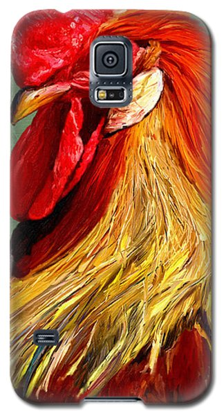 Galaxy S5 Case featuring the digital art Rooster 1 by James Shepherd