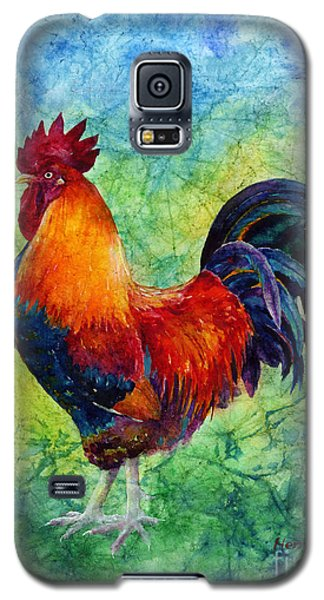 Galaxy S5 Case featuring the painting Rooster 2 by Hailey E Herrera