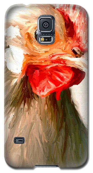 Galaxy S5 Case featuring the digital art Rooster 2 by James Shepherd