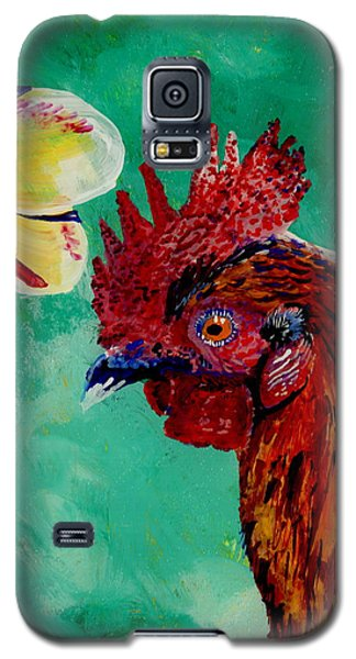 Rooster And Plumeria Galaxy S5 Case