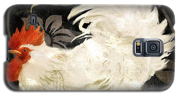 Rooster Damask Dark Galaxy S5 Case by Mindy Sommers