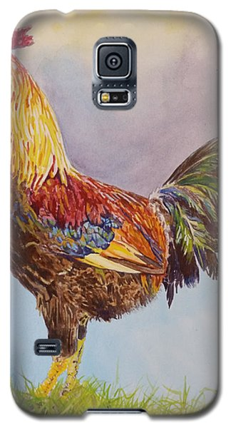 Galaxy S5 Case featuring the painting Rooster I by Robert Decker