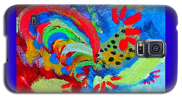 Galaxy S5 Case featuring the painting Rooster In The Sky From The Fairy Queen by Angela Annas