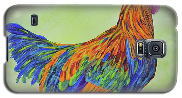 Galaxy S5 Case featuring the painting Rooster by Mary Scott