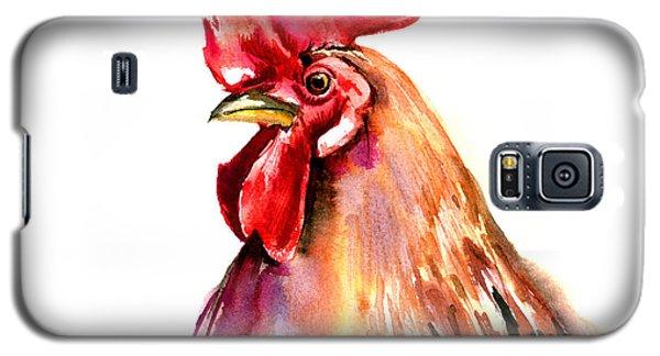 Rooster Portrait Galaxy S5 Case by Suren Nersisyan