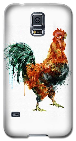 Rooster Watercolor Painting Galaxy S5 Case