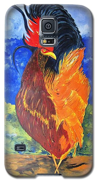 Galaxy S5 Case featuring the painting Rooster With Attitude by Gary Smith