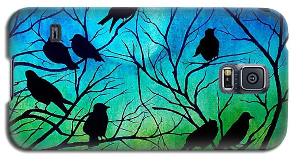 Galaxy S5 Case featuring the painting Roosting Birds by Susan DeLain