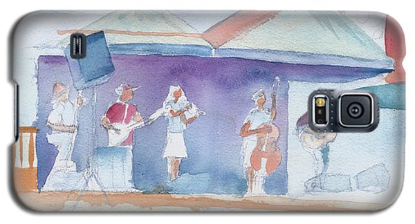 Galaxy S5 Case featuring the painting Roots Retreat Bluegrass by David Sockrider